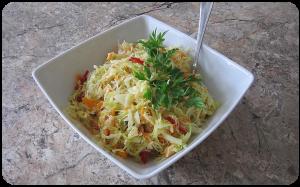 Kopūstų salotos ilgam laikymui